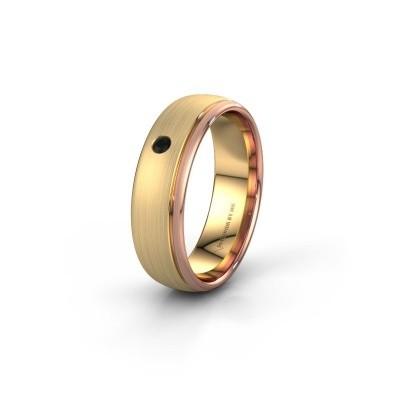 Trouwring WH0501L36AM 585 goud zwarte diamant ±6x1.7 mm