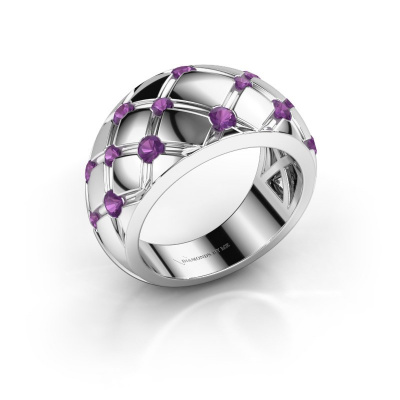 Ring Imke 585 white gold amethyst 2.5 mm