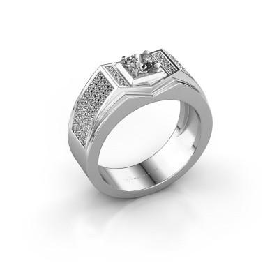 Men's ring Marcel 375 white gold lab grown diamond 1.04 crt