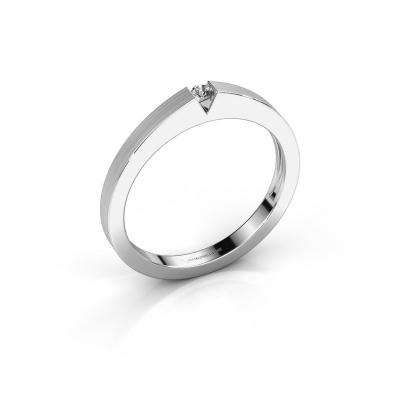 Verlovingsring Lizzy 1 925 zilver diamant 0.03 crt