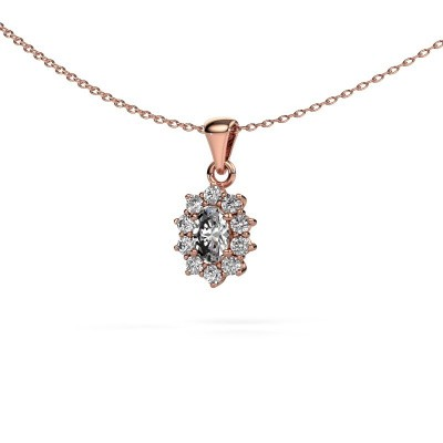 Foto van Ketting Leesa 375 rosé goud diamant 0.80 crt