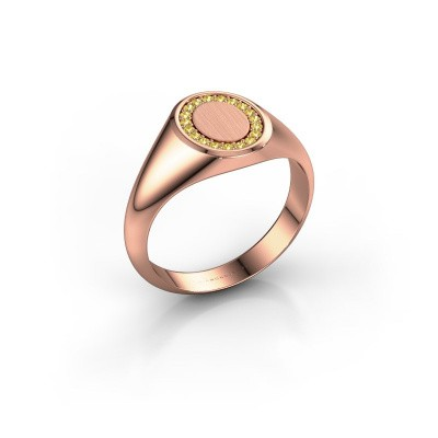 Pinky ring Floris Oval 1 375 rose gold yellow sapphire 1.2 mm