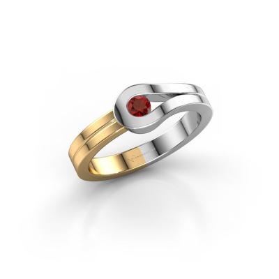 Ring Kiki 585 white gold garnet 3 mm