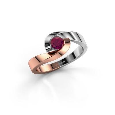 Foto van Ring Sheryl 585 rosé goud rhodoliet 4 mm