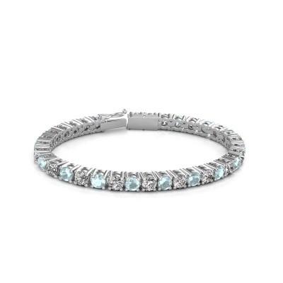 Foto van Tennisarmband Ming 750 witgoud diamant 17.00 crt