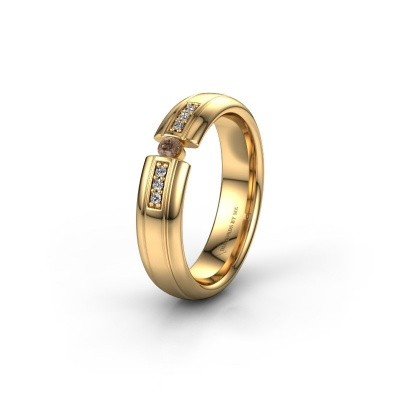 Wedding ring WH2128L26C 585 gold brown diamond ±5x2 mm