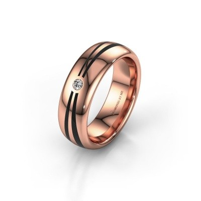 Trouwring WH2226L36BP 585 rosé goud ±6x2 mm