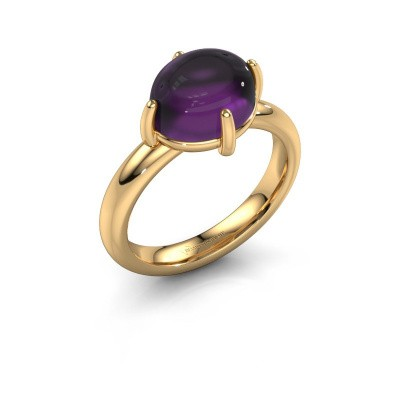 Ring Melodee 585 goud amethist 10x8 mm
