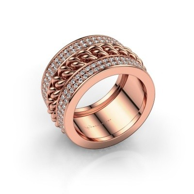 Picture of Ring Jayda 375 rose gold zirconia 1.2 mm