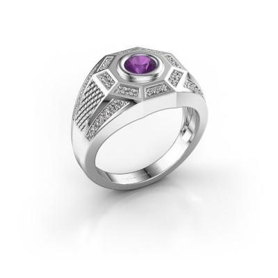 Foto van Heren ring Enzo 925 zilver amethist 5 mm