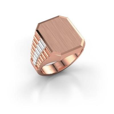 Foto van Rolex stijl ring Erik 4 585 rosé goud