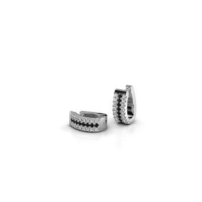 Foto van Creolen Nena 925 zilver zwarte diamant 0.384 crt