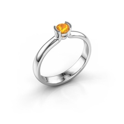 Engagement ring Ophelia 925 silver citrin 4 mm