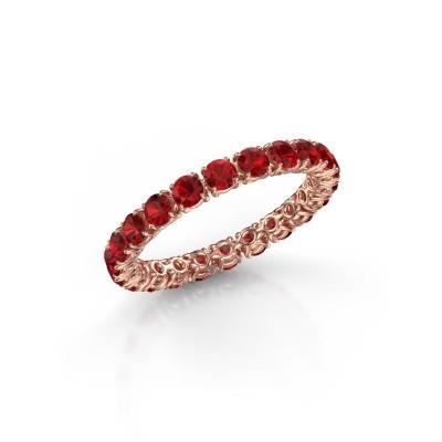 Foto van Ring Vivienne 2.7 375 rosé goud robijn 2.7 mm