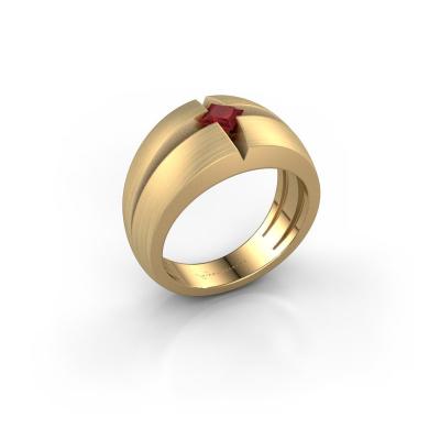 Foto van Heren ring Rens 375 goud robijn 3.5 mm