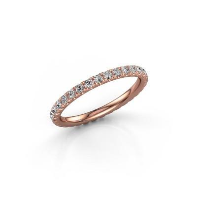 Foto van Aanschuifring Jackie 1.7 375 rosé goud lab-grown diamant 0.66 crt
