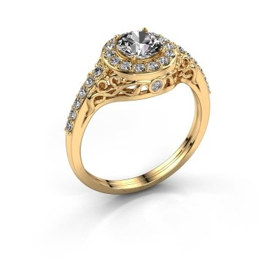 Foto van Ring Yurani 375 goud zirkonia 6 mm
