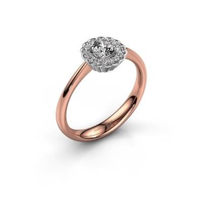 Verlovingsring Debi 585 rosé goud zirkonia 4.2 mm