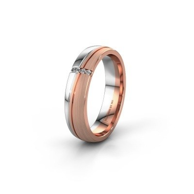 Weddings ring WH0909L25X 585 rose gold zirconia ±0.20x0.06 in