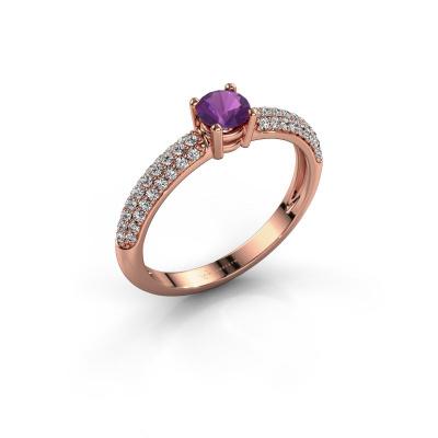 Foto van Ring Marjan 585 rosé goud amethist 4.2 mm