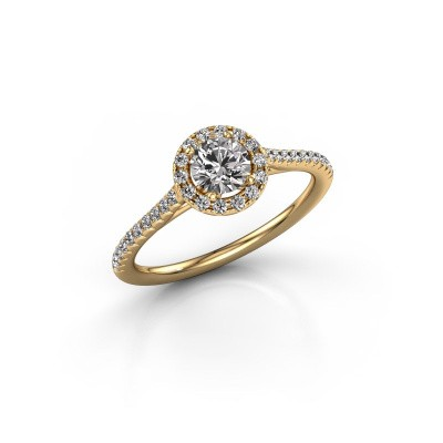 Engagement ring Seline rnd 2 375 gold diamond 0.655 crt