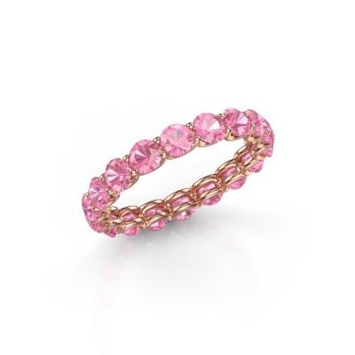 Foto van Ring Kirsten 3.4 375 rosé goud roze saffier 3.4 mm