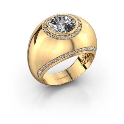 Ring Roxann 375 gold lab-grown diamond 2.41 crt