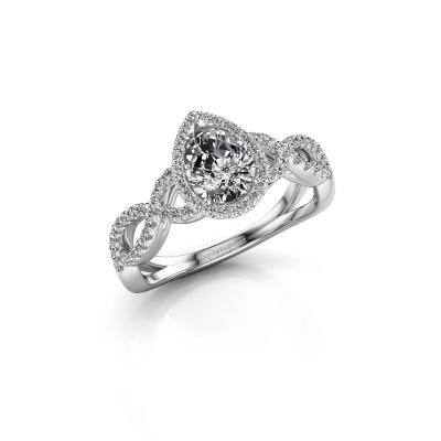 Bild von Verlobungsring Dionne pear 585 Weißgold Diamant 0.99 crt