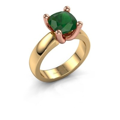 Ring Clelia CUS 585 goud smaragd 8 mm