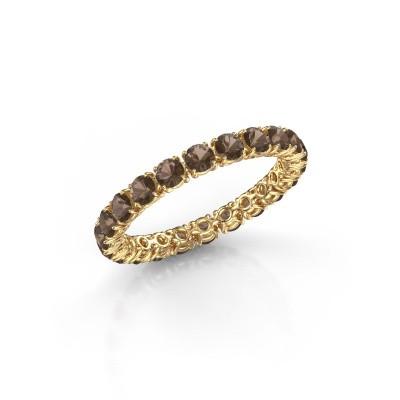Foto van Ring Vivienne 2.7 375 goud rookkwarts 2.7 mm