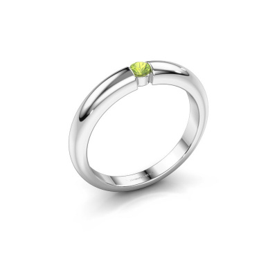 Picture of Engagement ring Amelia 950 platinum peridot 3 mm