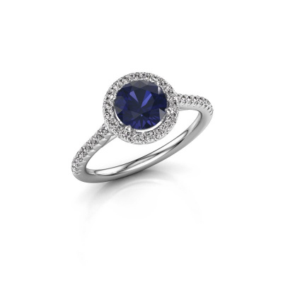 Picture of Engagement ring Seline rnd 2 585 white gold sapphire 6.5 mm