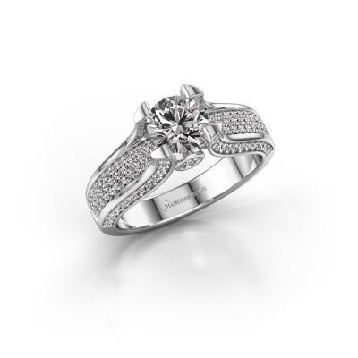 Foto van Verlovingsring Jeanne 2 950 platina diamant 1.592 crt