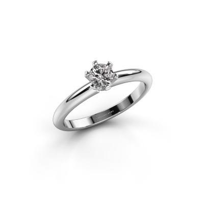 Foto van Verlovingsring Tiffy 1 585 witgoud diamant 0.30 crt