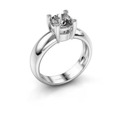 Ring Fleur 585 witgoud diamant 1.02 crt