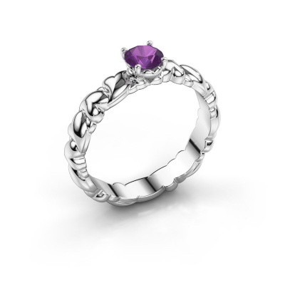 Picture of Ring Fabia 585 white gold amethyst 5 mm