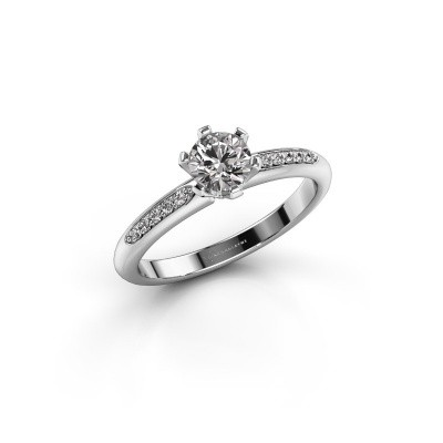Engagement ring Tiffy 2 925 silver diamond 0.50 crt