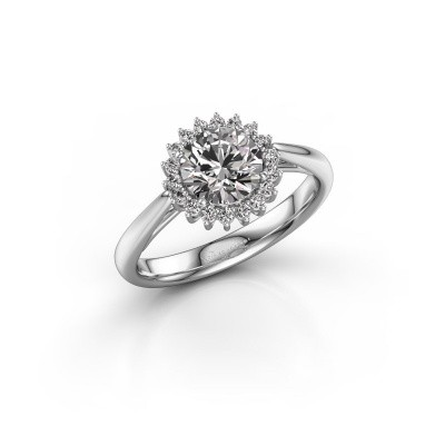 Foto van Verlovingsring Mariska 1 950 platina diamant 1.00 crt