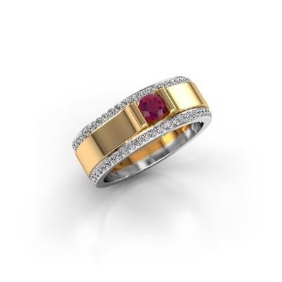 Men's ring Danillo 585 gold rhodolite 4.2 mm