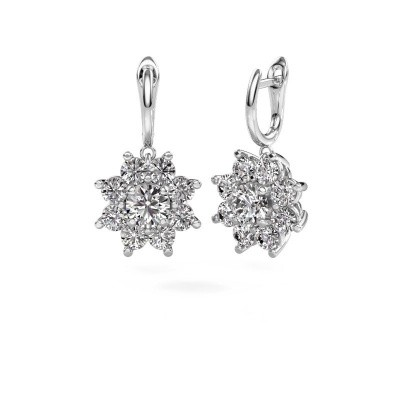 Picture of Drop earrings Camille 1 585 white gold diamond 6.00 crt