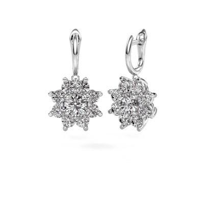 Photo de Pendants d'oreilles Camille 1 585 or blanc diamant 6.00 crt