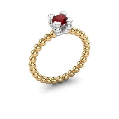 Ring Aurore 585 goud robijn 5 mm