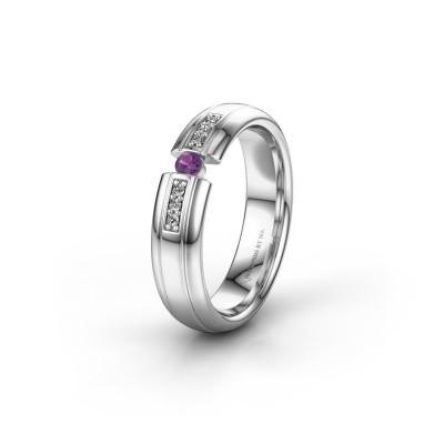 Wedding ring WH2128L26C 925 silver amethyst ±5x2 mm