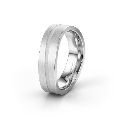 Trouwring WH2019M 585 witgoud ±6x2 mm