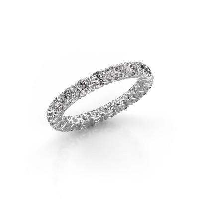 Photo de Bague Vivienne 2.9 585 or blanc diamant synthétique 1.90 crt
