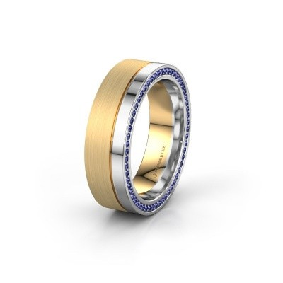 Wedding ring WH0313L16B 585 gold sapphire ±6x2 mm