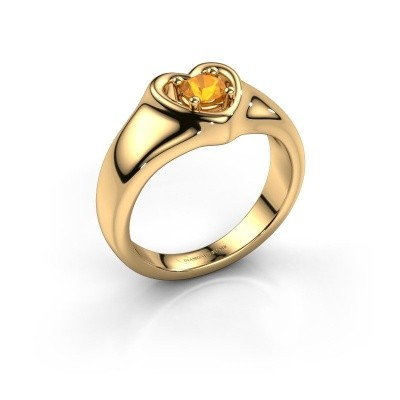 Foto van Ring Maja 585 goud citrien 4 mm