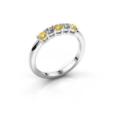 Foto van Promise ring Michelle 5 585 witgoud gele saffier 2.7 mm