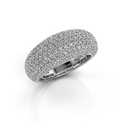 Photo de Bague Lyndia 585 or blanc diamant synthétique 2.769 crt