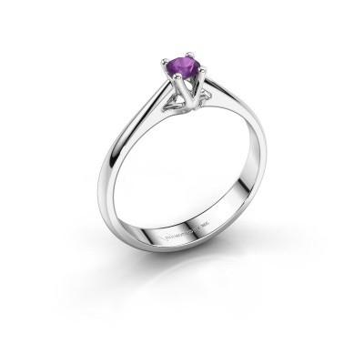 Engagement ring Janna 1 585 white gold amethyst 3.4 mm